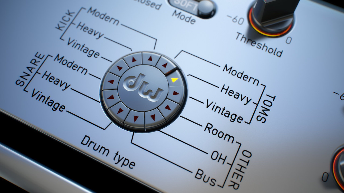 a screenshot of the Audified DW Drum Enhancer plugin for processing drums
