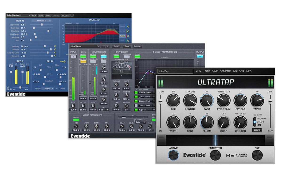 a screenshot of the audio plugins included in the Eventide Ultra Essentials Bundle