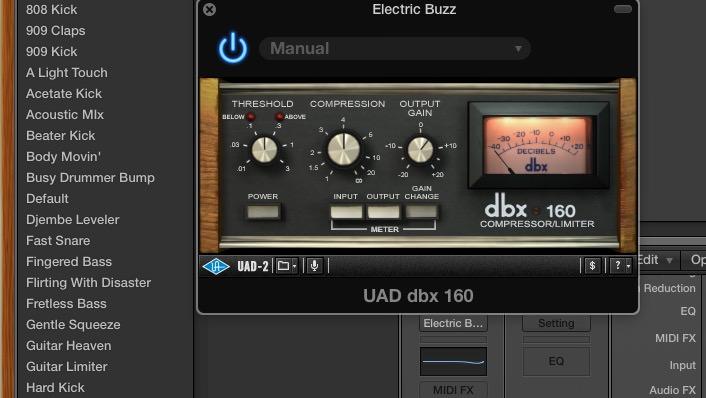 Browse Universal Audio Plugin Presets in Logic Pro X