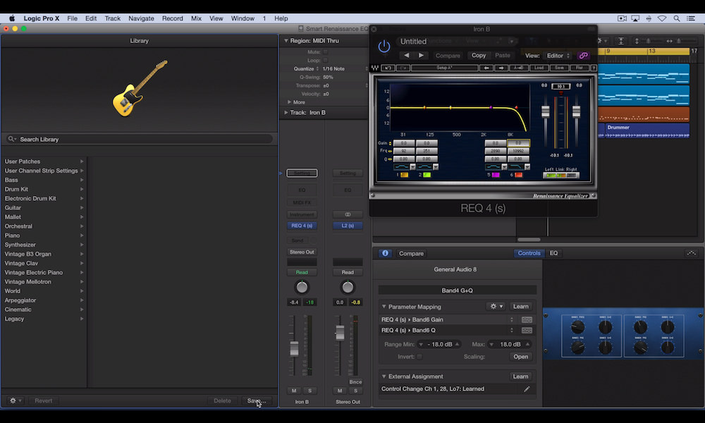 How To Use Logic Pro X's Smart Controls With Waves Renaissance EQ - Part 3