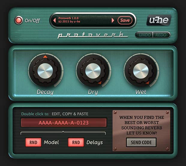 u-he protoverb free reverb plugin