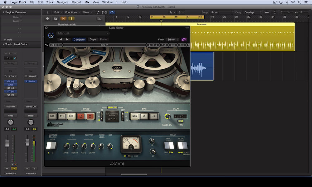 The Delay Sandwich Using The Waves J37 Tape Emulation Plugin