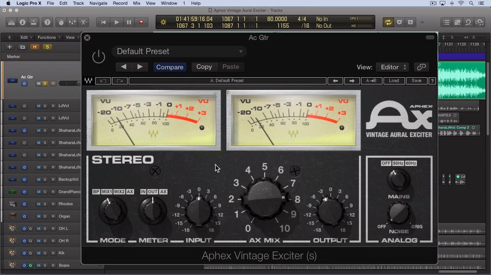 Video Tutorial - Waves Aphex Vintage Aural Exciter Part 1