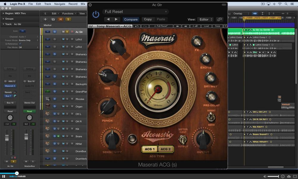 a screenshot of the waves maserati ACG in Logic Pro X
