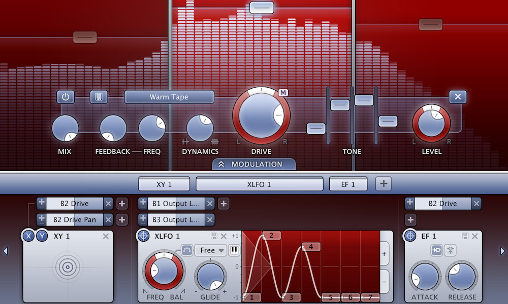 a screenshot of the fabfilter saturn multiband distortion and saturation plugin