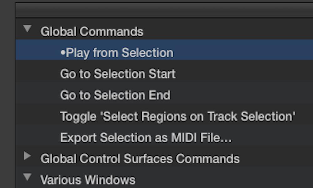 key command