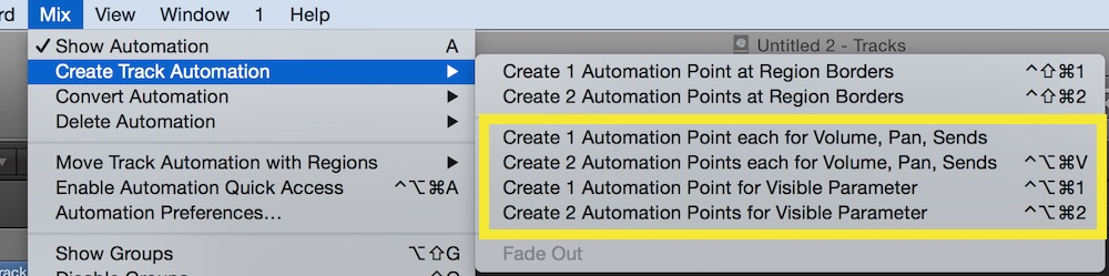 automatic automation node creation in logic pro x
