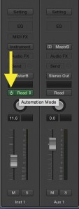 toggle automation in logic pro x