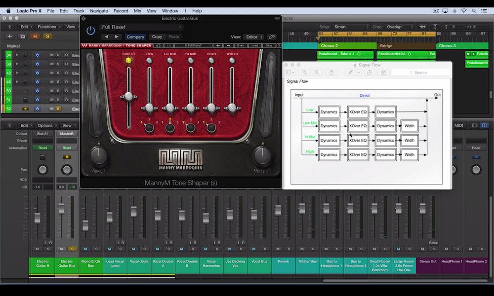 a screenshot of the manny marroquin tone shaper plugin in logic pro x