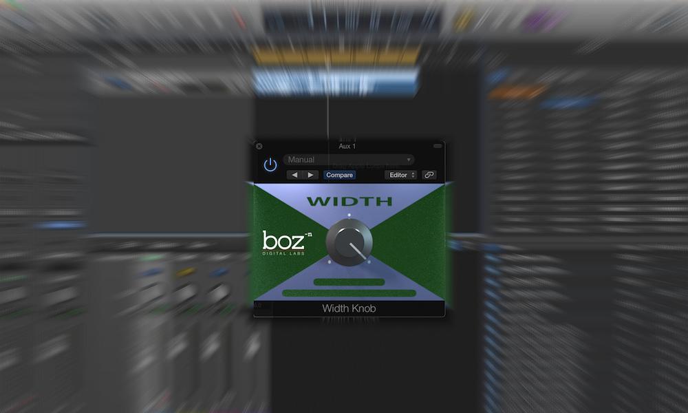 a screenshot of the width know plugin in logic pro x