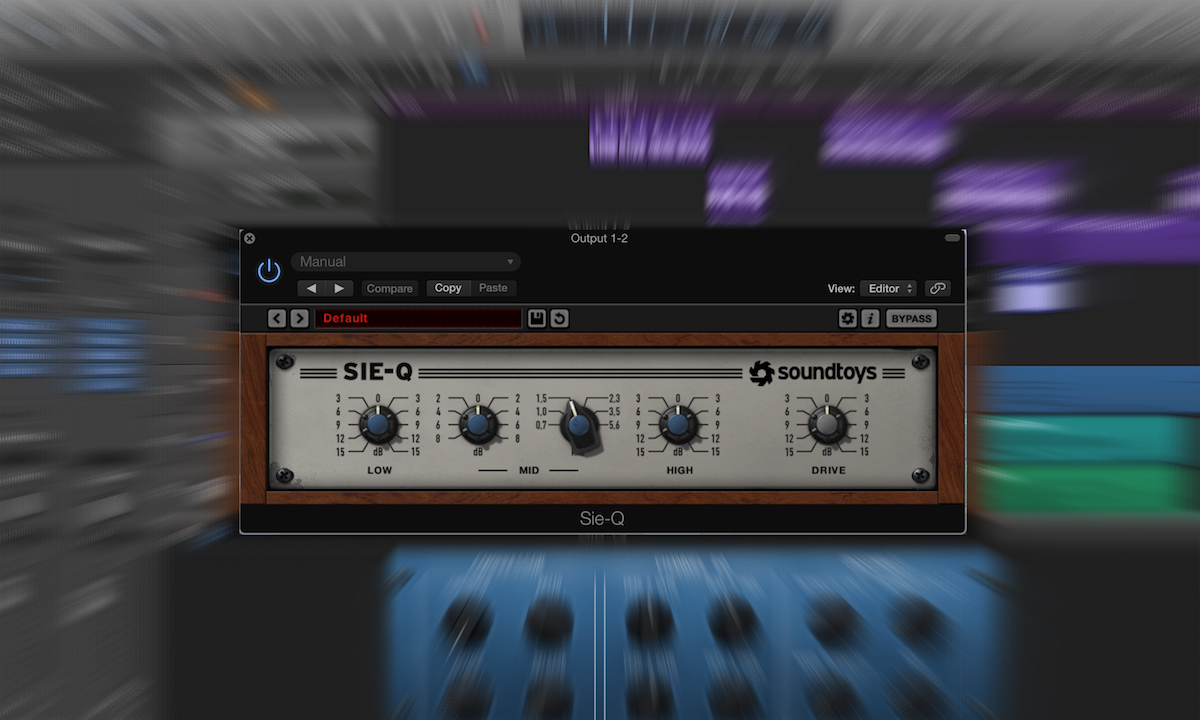 a screenshot of the Soundtoys sieQ equalizer plugin in Logic Pro X