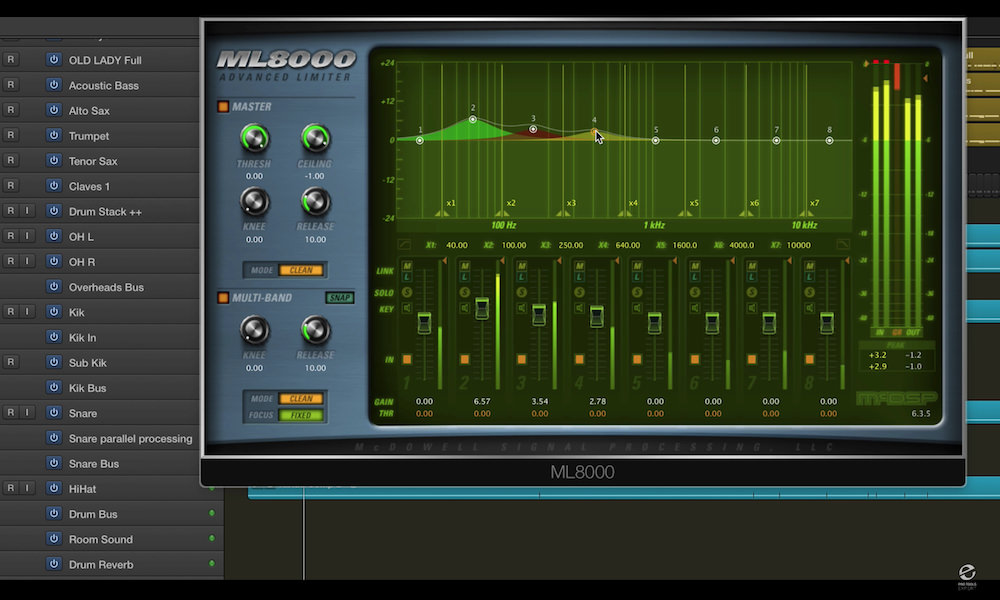 a screenshot of the McDSP ML8000 iplugin in Logic Pro X