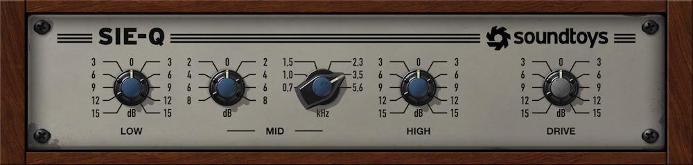 a screenshot of the Soundtoys Sie-Q Vintage German Equalizer