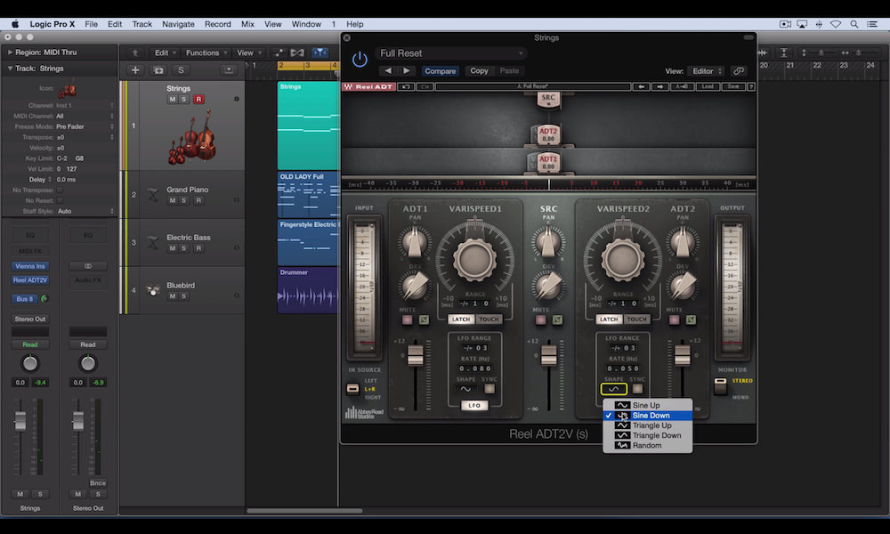 a screenshot of the waves reel adt plugin used in logic pro x