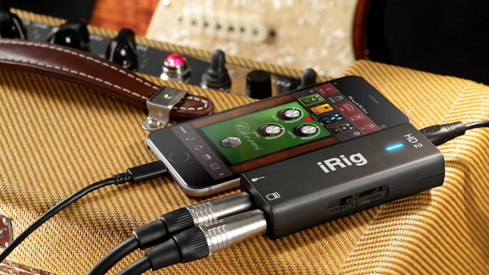 a close up picture of the IK Multimedia iRig HD 2