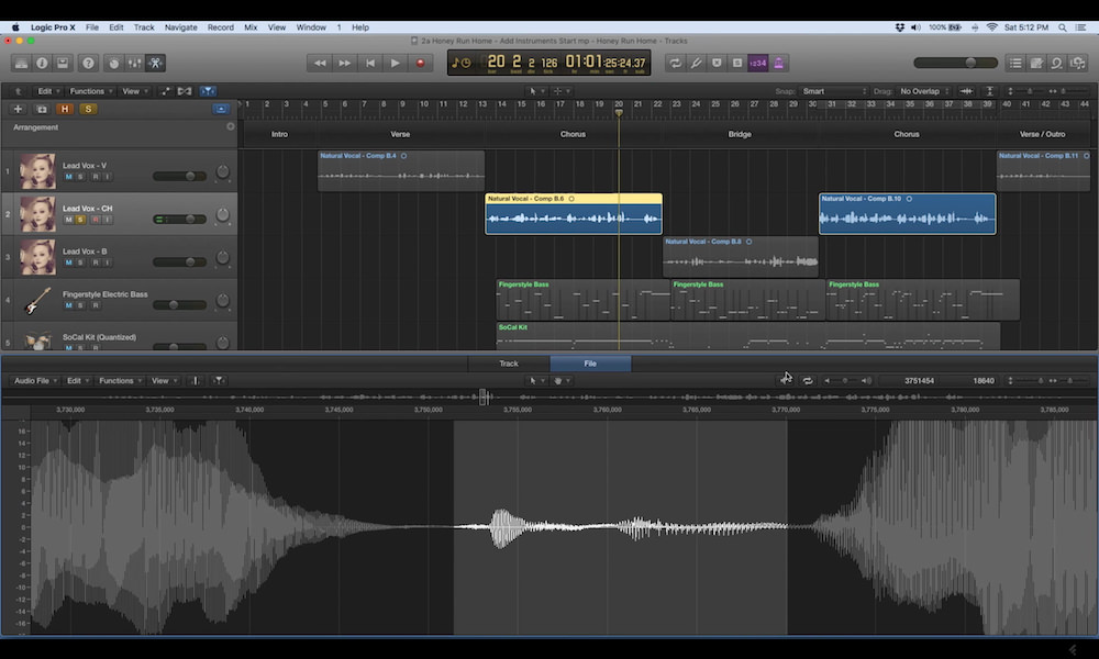 a screenshot of the editing and mixing vocals in logic pro x video tutorial series
