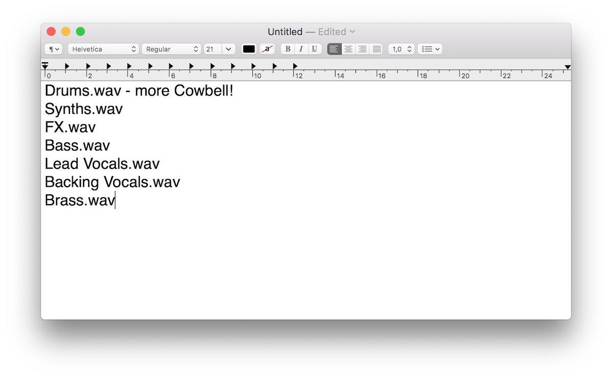 a screenshot of Finder in Mac OS X Sierra