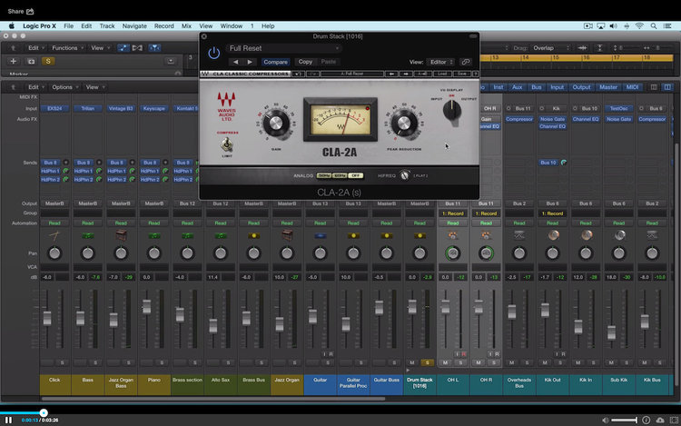 Video - Using the Waves CLA 2A Compressor Limiter | Logic Pro