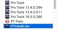 PTInstall_Ver App - Application Folder Before