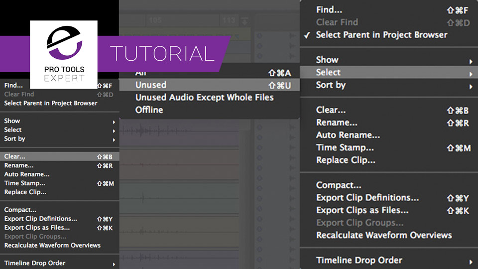 Getting To Grips With Pro Tools Part 14 - Clip List Management