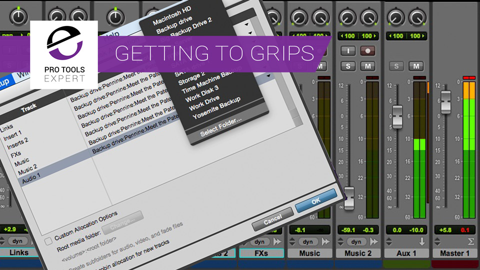 Getting To Grips With Pro Tools Part 15 - Mixing & Disk Allocation Tips