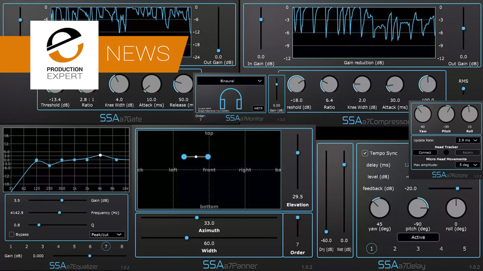 SSA Plugins Announce AAX Versions Of Their Ambisonics Plug-ins For Pro Tools Ultimate