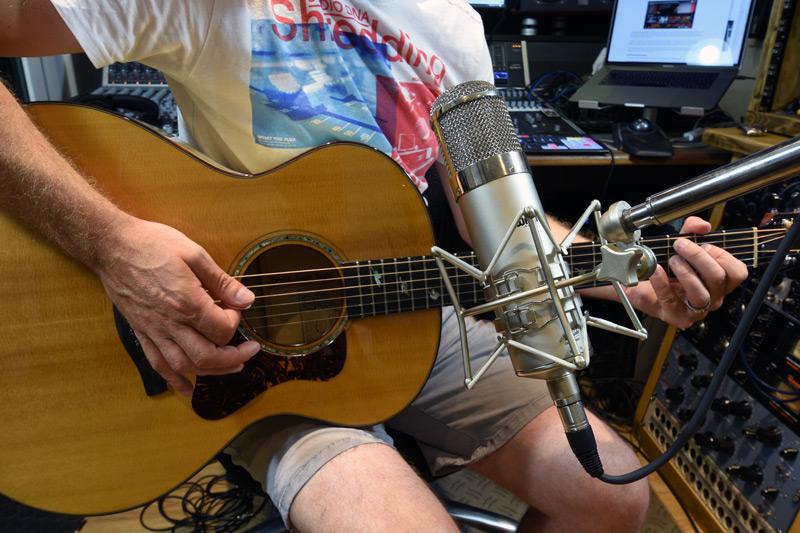Warm Audio WA-47 On Acoustic Guitar