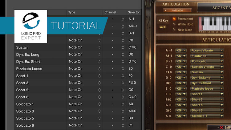 How to Use Logic's Articulation Editor to create Articulation ID