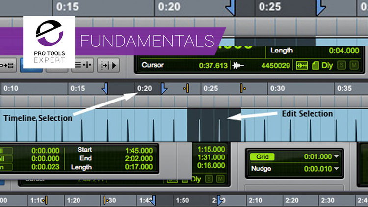 Pro Tools Fundamentals - Timeline And Edit Selections And Insertion