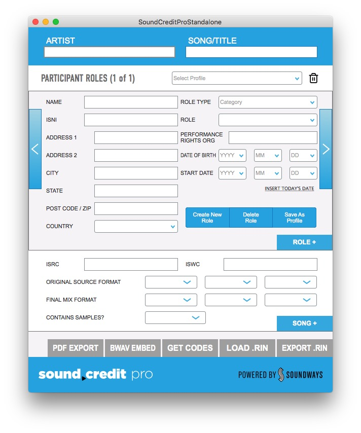 Sound Credit Software and Portal Gives Music Professionals At All