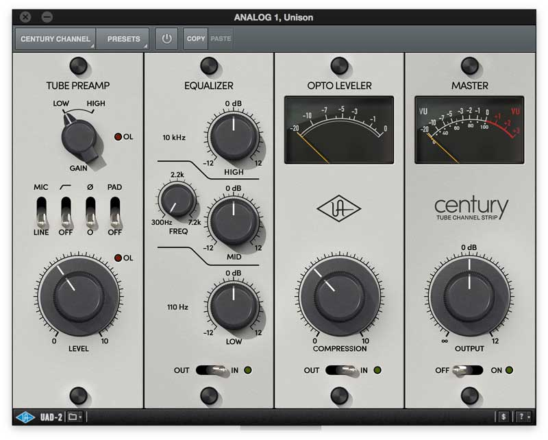Century Channel Strip For UAD-2 And Apollo Interfaces