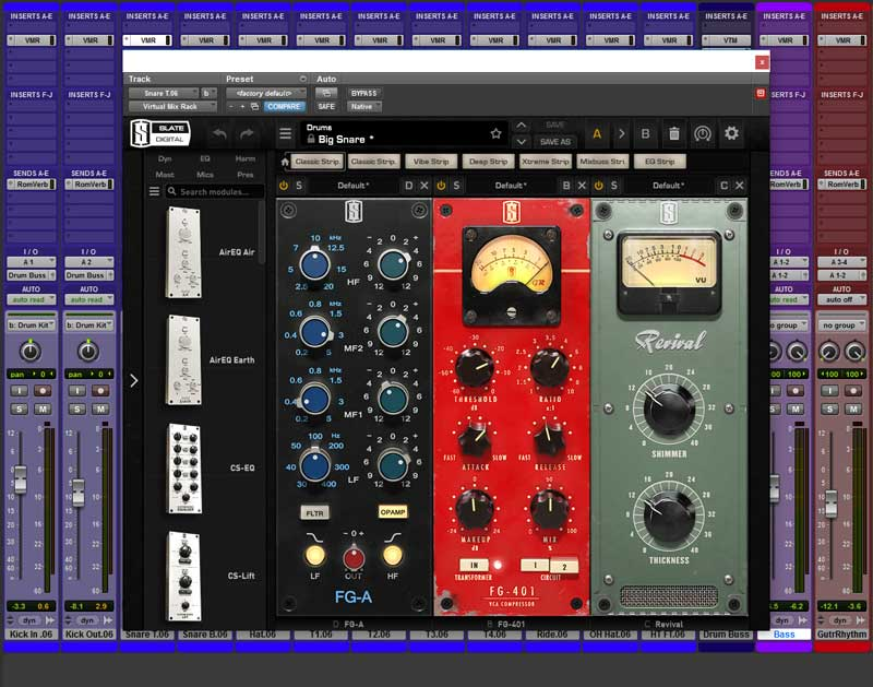 This is the VMR Configuration For The Snare Drum Top Channel Featuring the new FG-A EQ