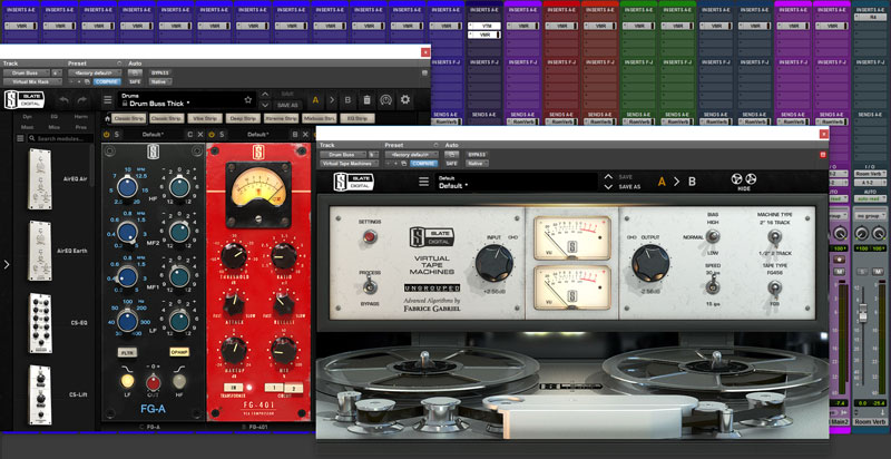 This is the VMR Configuration For The Drum Bus Channel Featuring the new FG-A EQ