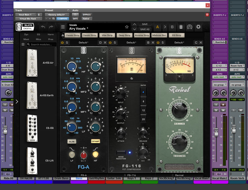 This is the VMR Configuration For The Vocal Channels Featuring the new FG-A EQ