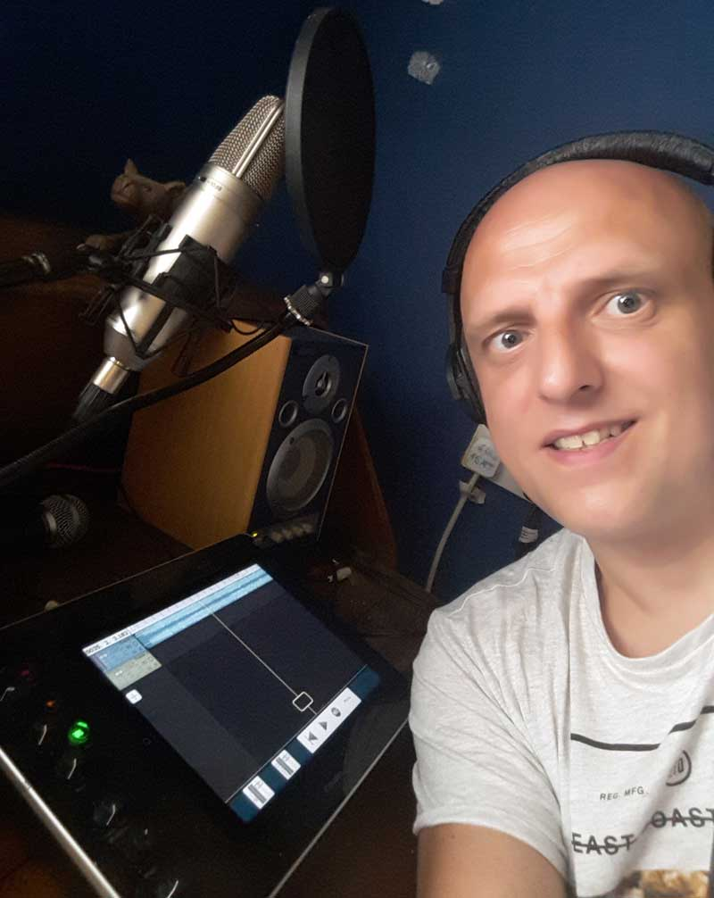 Matt Wisbey In His Home Studio