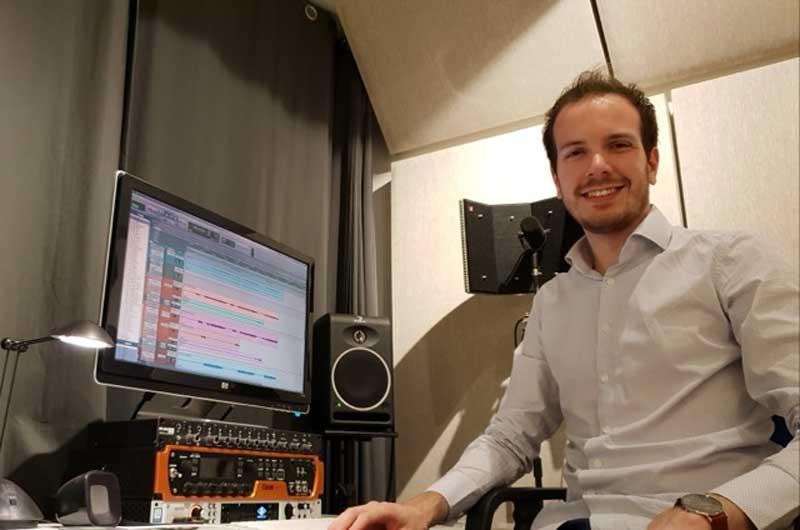 Carsten Vos In His Home Studio
