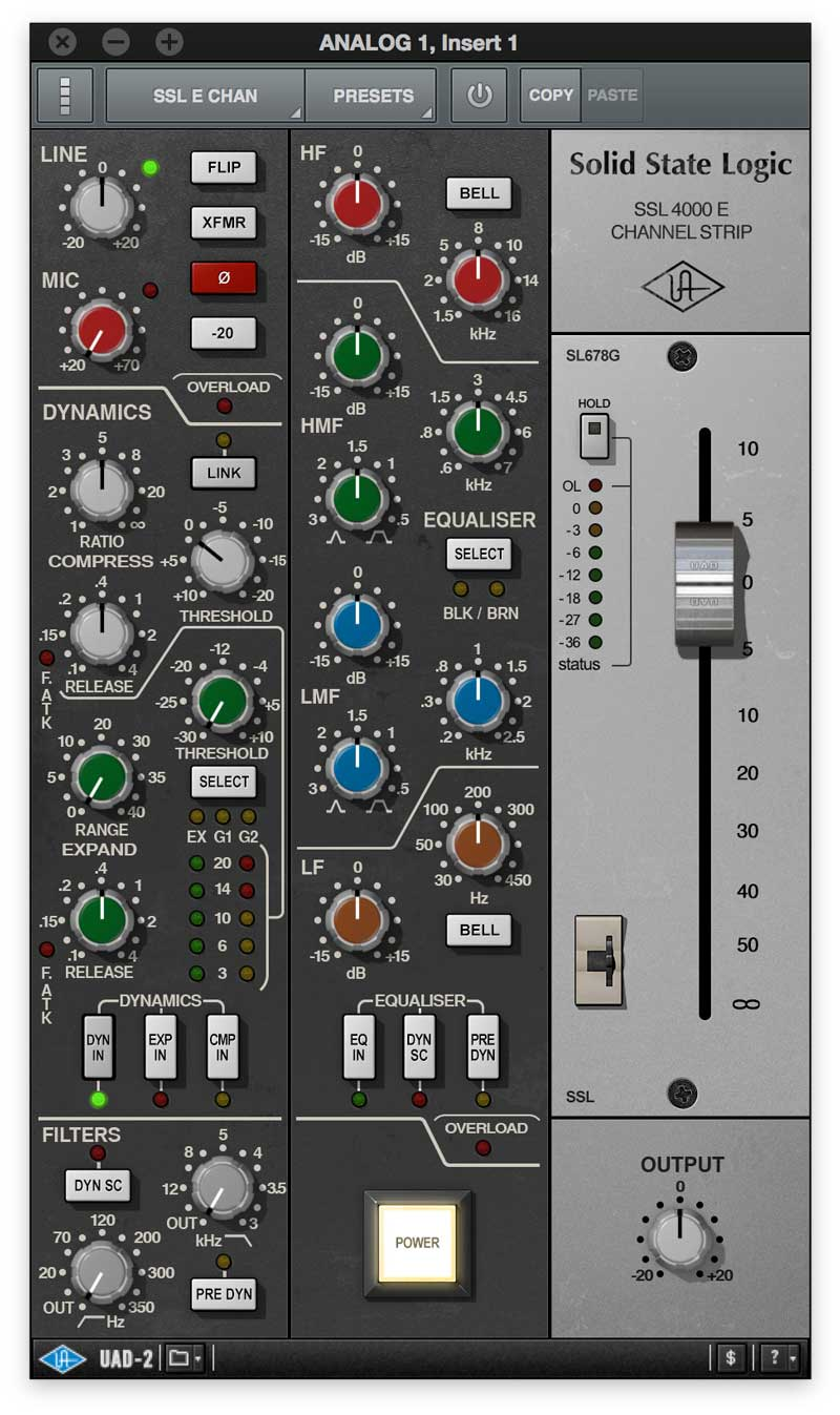 UAD-2 SSL-4000E Channel Strip