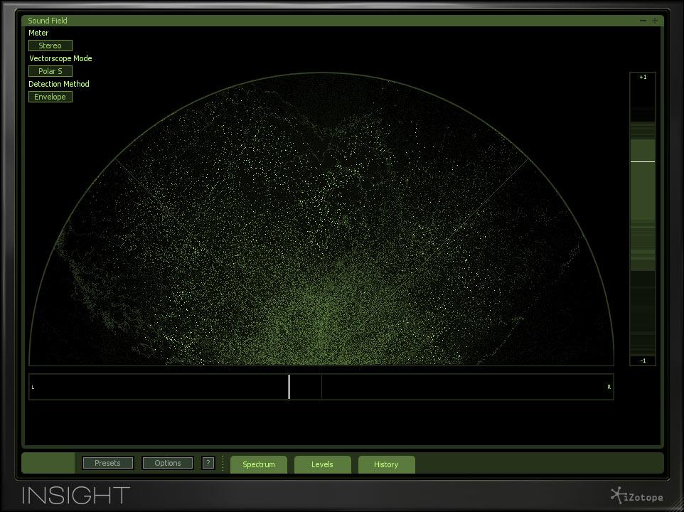 iZotope Insight Vectorscope