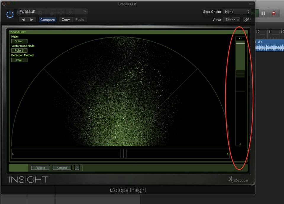 iZotope Insight phase correlation meter