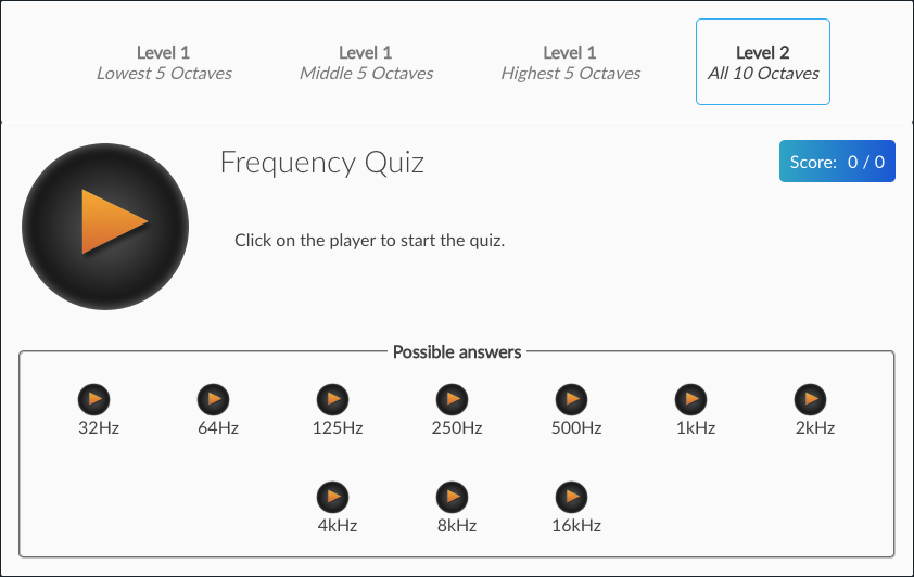 Puremix Frequency Quiz