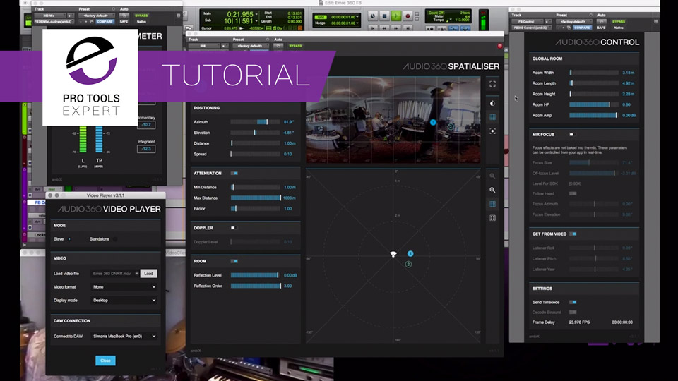 Want To Learn How To Get Started Ambisonics In Pro Tools Ultimate? We Have 4 Avid Tutorials To Help You With VR Immersive Mixing