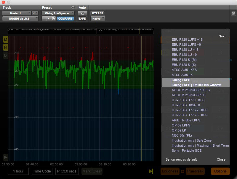 Nugen Audio VisLM Dialog Detection presets