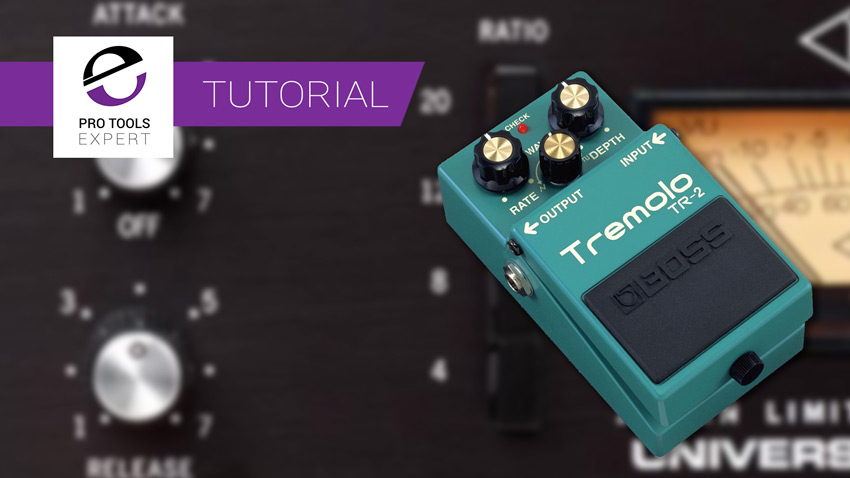 Undo tremolo using A compressor banner