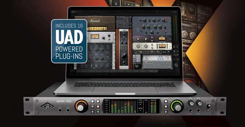 New UA Apollo x8p Audio Interface Comes With 16 UAD Powered Plug-Ins As Standard