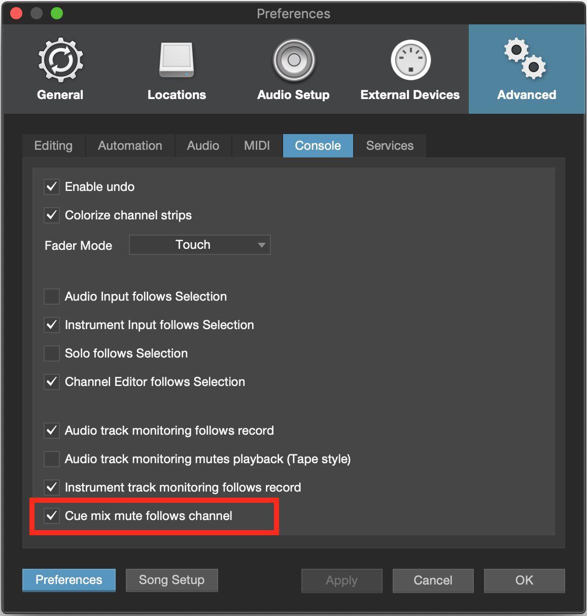 Cue Mix Mute Follows Channels Studio One 4.1.jpg