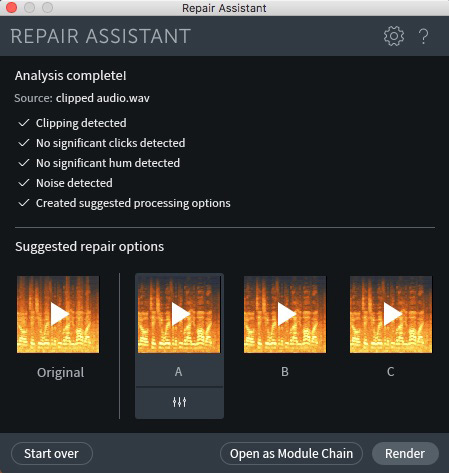 iZotope RX 7 Repair Assistant