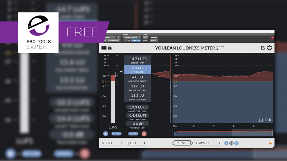 Friday Free Plug-in - Youlean BS 1770 Loudness Meter V2 For