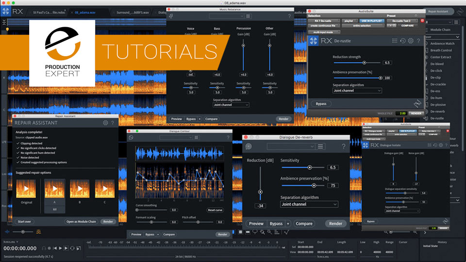 iZotope Show How To Use The New Music Rebalance And Repair Assistant Modules Introduced In RX 7