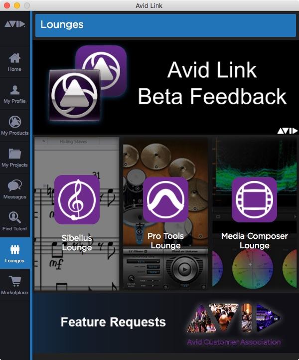 Avid Link Lounges Tab