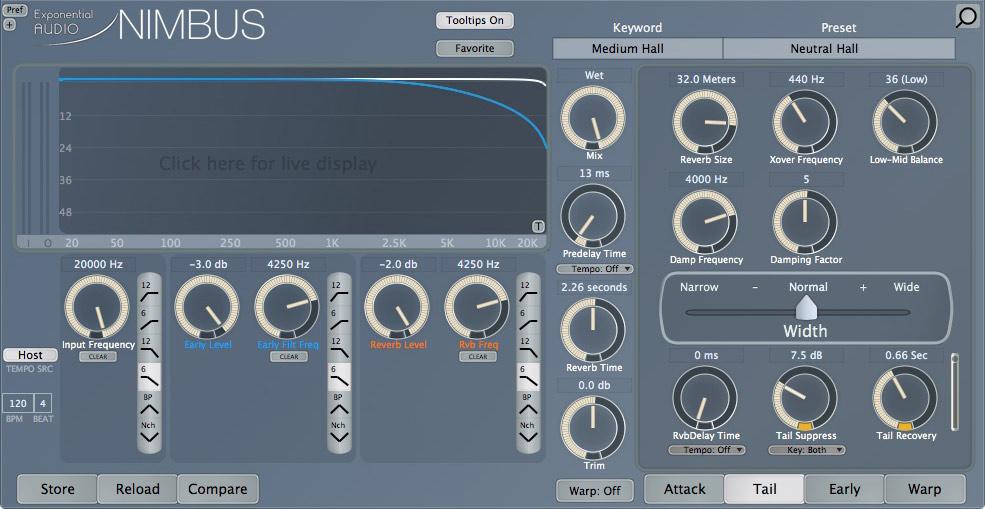 Exponential Audio Nimbus Tail Suppression Circuit
